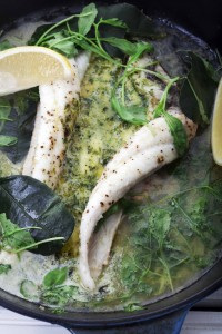 black sole with kafir lime butter s